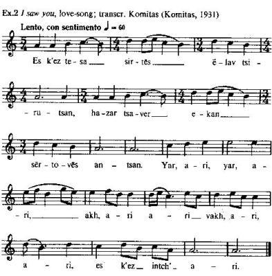 Komitas trans ex 1 Lyrical song in Oxford